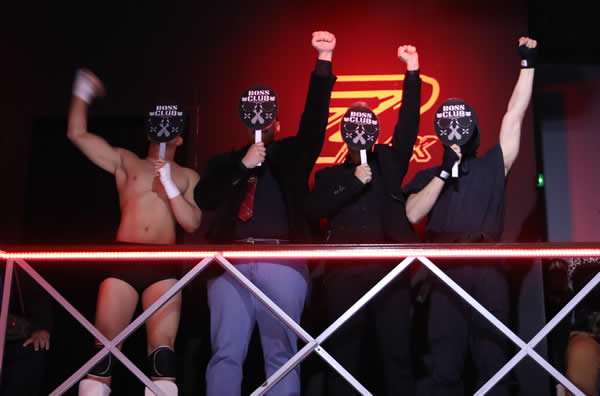 Boss Club with masks